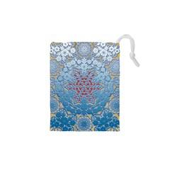 Pattern Background Pattern Tile Drawstring Pouches (xs)