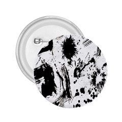 Pattern Color Painting Dab Black 2.25  Buttons