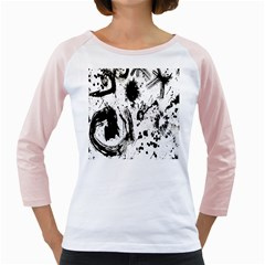 Pattern Color Painting Dab Black Girly Raglans