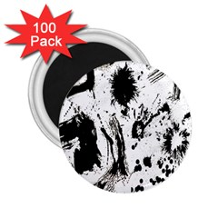 Pattern Color Painting Dab Black 2.25  Magnets (100 pack)