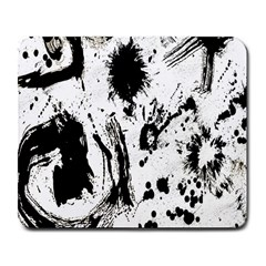 Pattern Color Painting Dab Black Large Mousepads