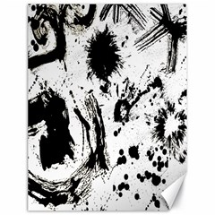 Pattern Color Painting Dab Black Canvas 18  X 24