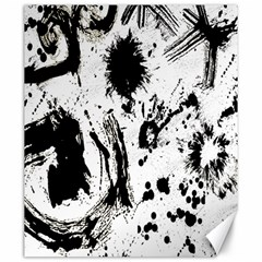 Pattern Color Painting Dab Black Canvas 20  x 24