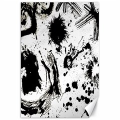 Pattern Color Painting Dab Black Canvas 20  x 30