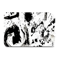 Pattern Color Painting Dab Black Plate Mats