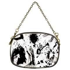 Pattern Color Painting Dab Black Chain Purses (Two Sides)