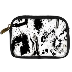 Pattern Color Painting Dab Black Digital Camera Cases