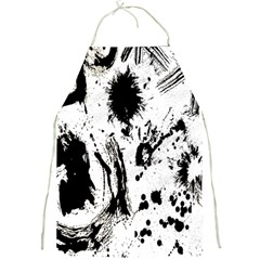 Pattern Color Painting Dab Black Full Print Aprons