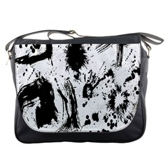 Pattern Color Painting Dab Black Messenger Bags