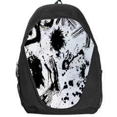 Pattern Color Painting Dab Black Backpack Bag