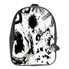 Pattern Color Painting Dab Black School Bags (xl)