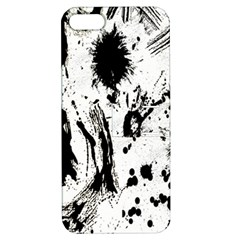 Pattern Color Painting Dab Black Apple Iphone 5 Hardshell Case With Stand