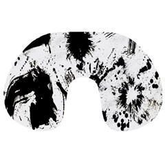 Pattern Color Painting Dab Black Travel Neck Pillows
