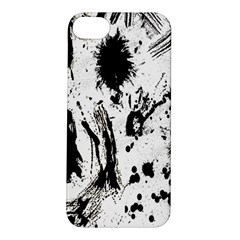 Pattern Color Painting Dab Black Apple Iphone 5s/ Se Hardshell Case