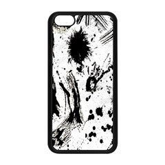 Pattern Color Painting Dab Black Apple Iphone 5c Seamless Case (black)