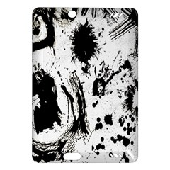 Pattern Color Painting Dab Black Amazon Kindle Fire Hd (2013) Hardshell Case