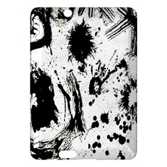 Pattern Color Painting Dab Black Kindle Fire Hdx Hardshell Case
