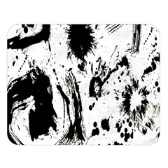 Pattern Color Painting Dab Black Double Sided Flano Blanket (Large)