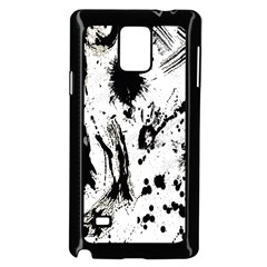 Pattern Color Painting Dab Black Samsung Galaxy Note 4 Case (Black)