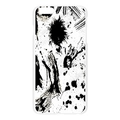 Pattern Color Painting Dab Black Apple Seamless iPhone 6 Plus/6S Plus Case (Transparent)