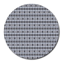 Pattern Grid Squares Texture Round Mousepads