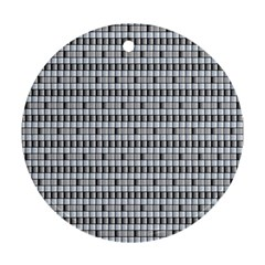 Pattern Grid Squares Texture Ornament (Round)