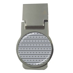 Pattern Grid Squares Texture Money Clips (round)