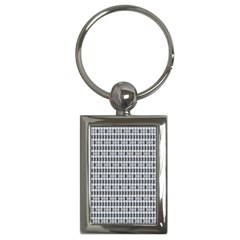 Pattern Grid Squares Texture Key Chains (rectangle)
