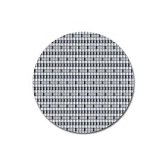 Pattern Grid Squares Texture Magnet 3  (Round)