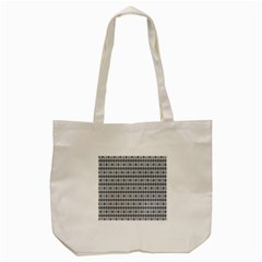 Pattern Grid Squares Texture Tote Bag (cream)