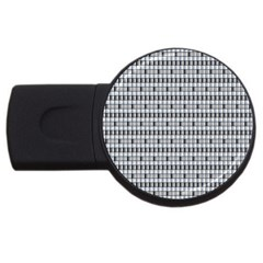 Pattern Grid Squares Texture Usb Flash Drive Round (4 Gb)