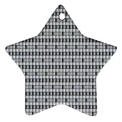 Pattern Grid Squares Texture Star Ornament (Two Sides)