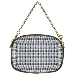Pattern Grid Squares Texture Chain Purses (One Side)