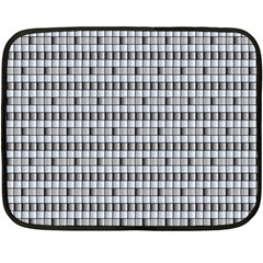Pattern Grid Squares Texture Double Sided Fleece Blanket (Mini)