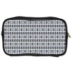 Pattern Grid Squares Texture Toiletries Bags 2 Side