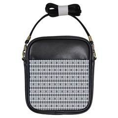Pattern Grid Squares Texture Girls Sling Bags