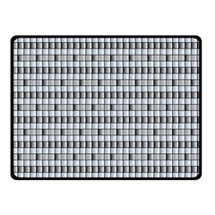 Pattern Grid Squares Texture Fleece Blanket (Small)