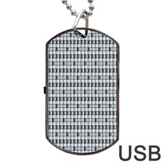 Pattern Grid Squares Texture Dog Tag Usb Flash (two Sides)
