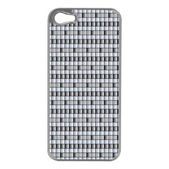 Pattern Grid Squares Texture Apple iPhone 5 Case (Silver)