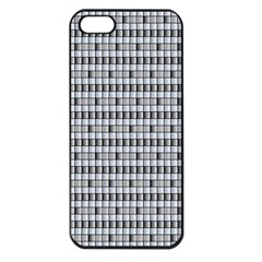 Pattern Grid Squares Texture Apple Iphone 5 Seamless Case (black)