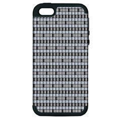 Pattern Grid Squares Texture Apple Iphone 5 Hardshell Case (pc+silicone)