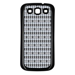 Pattern Grid Squares Texture Samsung Galaxy S3 Back Case (black)