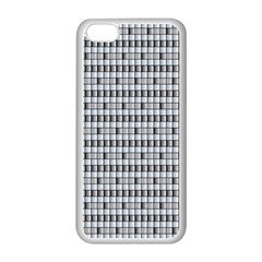 Pattern Grid Squares Texture Apple Iphone 5c Seamless Case (white)