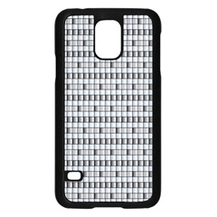 Pattern Grid Squares Texture Samsung Galaxy S5 Case (black)