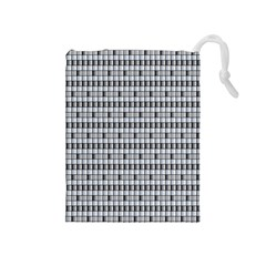 Pattern Grid Squares Texture Drawstring Pouches (medium)