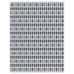 Pattern Grid Squares Texture Drawstring Bag (Large)