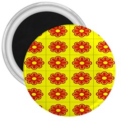 Pattern Design Graphics Colorful 3  Magnets