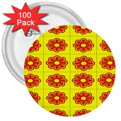 Pattern Design Graphics Colorful 3  Buttons (100 pack)
