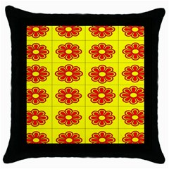 Pattern Design Graphics Colorful Throw Pillow Case (Black)