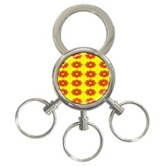 Pattern Design Graphics Colorful 3-Ring Key Chains